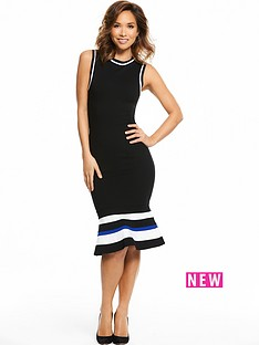 myleene-klass-fit-and-flare-fitted-dress-black