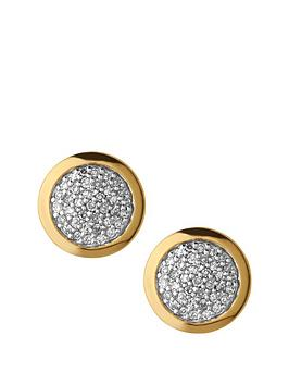 links-of-london-links-of-london-sterling-silver-18kt-gold-plated-diamond-set-round-stud-earrings