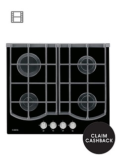 aeg-hg653430nb-59cm-wide-gas-hob-black-glass
