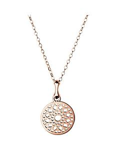 links-of-london-links-of-london-sterling-silver-rose-gold-plate-timeless-small-disc-pendant