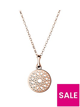 links-of-london-sterling-silver-rose-gold-plated-timeless-small-disc-pendant