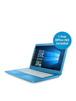 hp-stream-14-ax000na-intel-celeron-4gbnbspramnbsp32gb-storagenbsp14-inch-laptop-includes-microsoft-office-365-personal-with-optional-mcafeenbsplifesafe-aqua-blue