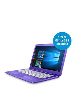 Image of Hp Stream 14-Ax002Na Intel&Reg; Celeron&Reg; Processor, 4Gb Ram, 32Gb Storage, 14 Inch Laptop With 12 Months Office 365 Personal And 1Tb Onedrive Cloud Storage - Purple - Laptop With Microsoft Office