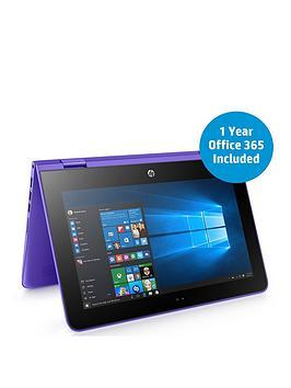 hp-pstream-x360-11-aa000na-intelreg-celeronreg-processor-2gb-ram-32gb-storage-116-inch-laptop-with-12-months-office-365-personal-and-1tb-onedrive-cloud-storage-purplebr-br-p