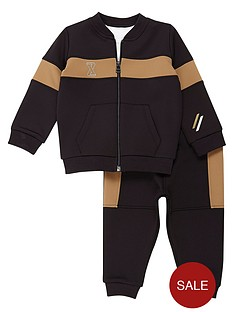river-island-mini-boys-block-stripe-jogger-set
