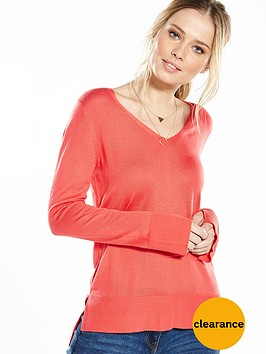 v-by-very-v-neck-split-cuff-long-sleeve-jumper