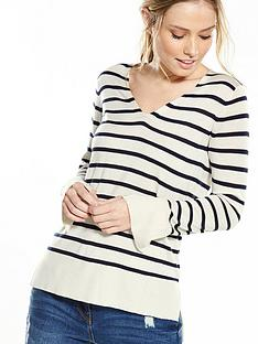 v-by-very-v-neck-split-cuff-long-sleeve-stripe-jumper