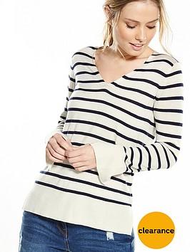 v-by-very-v-neck-split-cuff-long-sleeve-stripe-jumper