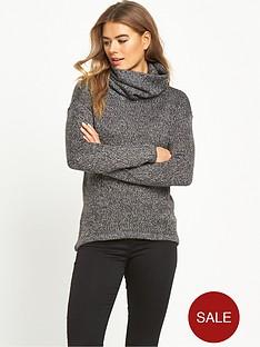 vero-moda-jive-cowl-neck-jumper-grey