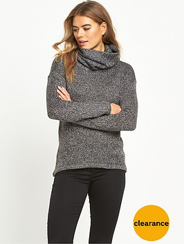 vero-moda-jive-cowl-neck-jumper-grey