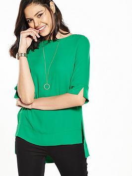 v-by-very-step-back-hem-blouse