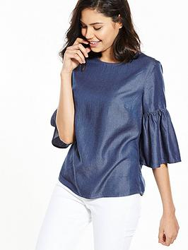 v-by-very-fluted-tencel-top