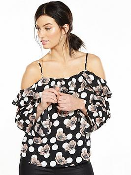 v-by-very-cold-shoulder-frill-blouse