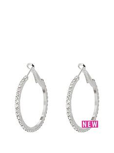 silver-tone-diamanteacutenbsp35mmnbsphoops