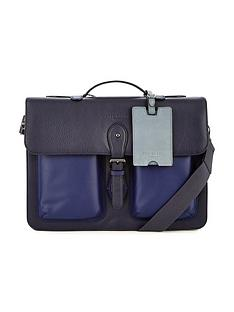 ted-baker-contrast-leather-satchel