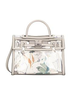 fiorelli-fiorelli-harlow-floral-clear-vinyl-tote-bag