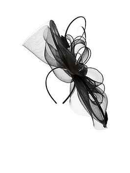 v-by-very-large-disc-fascinator-with-quill-amp-feathers-blacknbsp