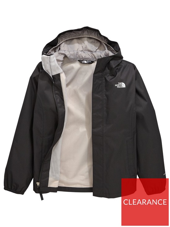 3a7f383a28bf THE NORTH FACE Older Girls Resolve Reflective Jacket - Black