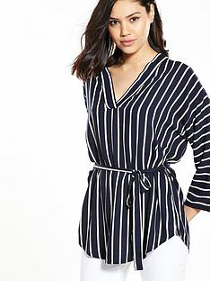 v-by-very-stripe-viscose-belted-tunic