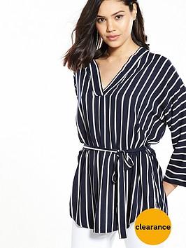 v-by-very-stripe-viscose-belted-tunic
