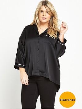 ri-plus-oversized-piping-shirt-black