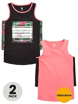 v-by-very-girls-side-panel-vests-2-pack