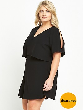 ri-plus-frill-tea-dress-black