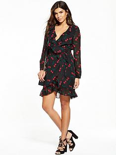 v-by-very-printed-ruffle-wrap-dress