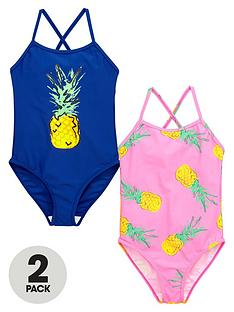 v-by-very-girls-pineapple-swimsuits-2-pack