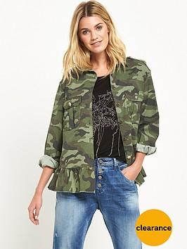 replay-camo-peplum-jacket