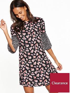 v-by-very-mixed-print-ruffle-dress