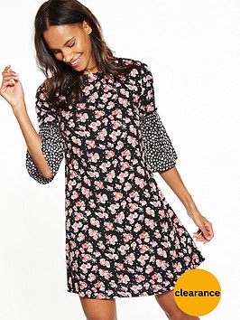 v-by-very-mixed-print-ruffle-dress