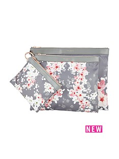 ted-baker-ted-baker-039fit-to-a-t039-oriental-blossom-nylon-trio-pouch-set
