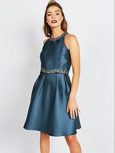little-mistress-2-in-1-embellished-midi-dressnbsp--teal