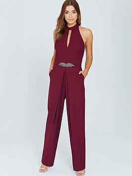 little-mistress-little-mistress-maroon-embellished-jumpsuit-with-keyhole