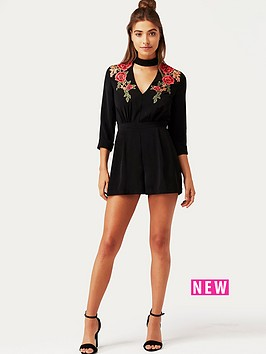 girls-on-film-black-embroidered-playsuit