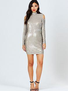 girls-on-film-girls-on-film-gold-sequin-cold-shoulder-bodycon-dress