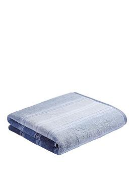 bianca-cottonsoft-ombre-stripe-bath-sheet