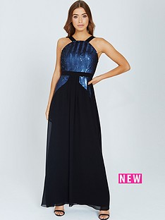 little-mistress-sequin-maxi-dress--nbspblack-and-navynbsp