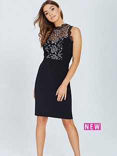 little-mistress-little-mistress-black-bodycon-dress-with-lace-panel