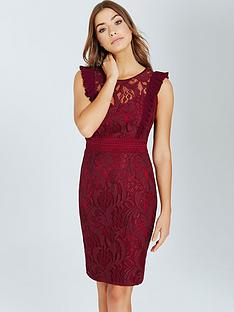 little-mistress-lace-bodycon-dress-with-ruffle-maroon