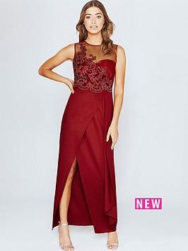 little-mistress-lace-appliqueacutenbspmaxi-dress--nbspscarlet-rednbsp