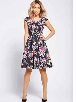myleene-klass-floral-prom-dress