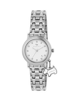 radley-radley-euston-link-white-dial-dog-charm-stainless-steel-bracelet-ladies-watch