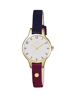 radley-radley-newton-two-tone-gold-tone-case-leather-strap-ladies-watch