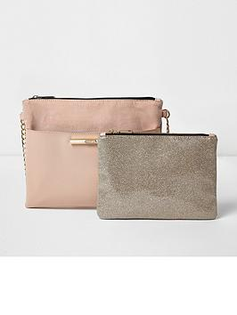 river-island-pouchette-with-removable-clutch-pink