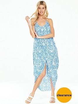 v-by-very-prairie-print-cocoon-beach-dress-bluenbsp