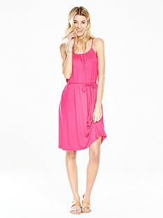 v-by-very-gathered-jersey-beach-dress-pinknbsp