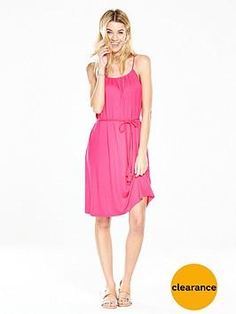 v-by-very-gathered-jersey-beach-dress-pinknbsp