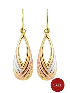 love-gold-9ct-yellow-gold-and-white-and-rose-rhodium-twist-peardrop-earrings